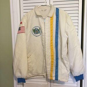 Vintage 70s/80s Unisex Lined Nylon Jacket Patches